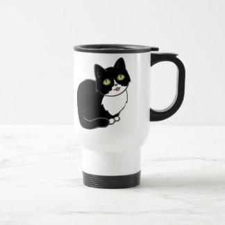Tuxie Tuxedo Cat Stainless Steel Travel Mug