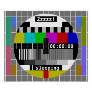 Tv Test Card Closedown Poster