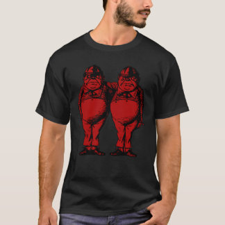 Tweedle Dee and Tweedle Dum Inked Red Fill T-Shirt