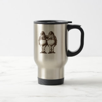 Tweedle Dee & Tweedle Dum Sepia Travel Mug