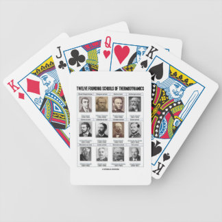 Twelve Founding Schools Of Thermodynamics Bicycle Playing Cards