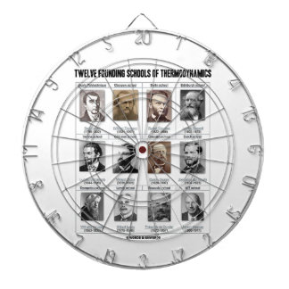 Twelve Founding Schools Of Thermodynamics Dartboard