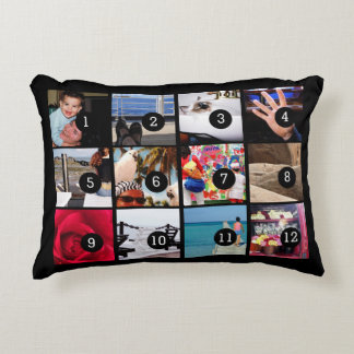 Twelve of Your Photos to Make Your Own Gift Easily Decorative Cushion