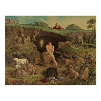 Twelve Temptations Daniel in the Lions' Den (1877) Postcard