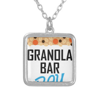 Twenty-first January - Granola Bar Day Silver Plated Necklace