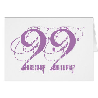 Twenty-two is a big deal, large purple text, white greeting card