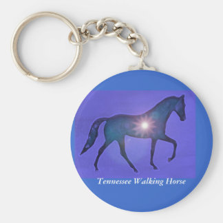 TWH Tennessee Walking Horse Basic Round Button Key Ring