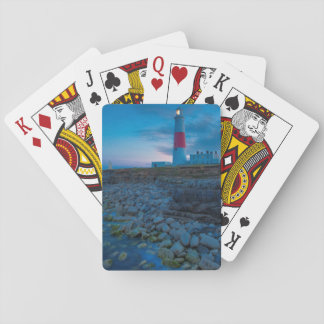 Twilight at the Portland Bill Lighthouse Playing Cards