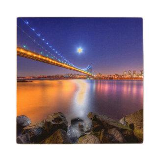 Twilight, George Washington BridgePalisades, NJ. Wood Coaster