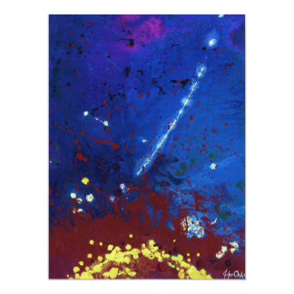 """TWILIGHT (outer space art) ~ 6.5"""" X 8.75"""" Invitation Card"""