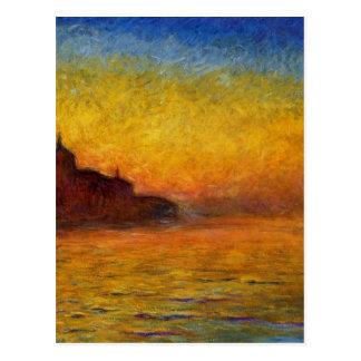Twilight, Venice by Claude Monet Postcard