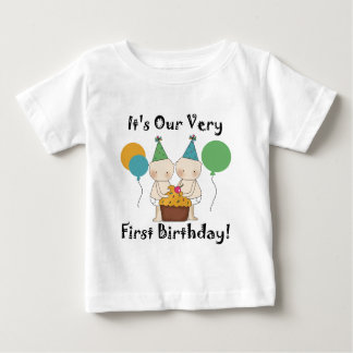 Twin Babies 1st Birthday Tshirts and Gifts