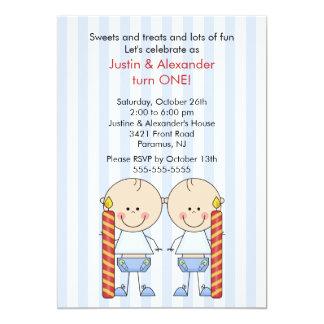 twin first birthday cards invitations zazzle co nz