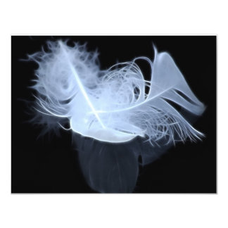 Twin flame feathers and reflection 11 cm x 14 cm invitation card