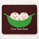 Twin Pea Pods (customisable) Mouse Mat