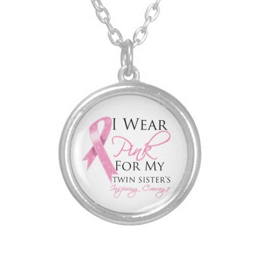 Twin Sister Inspiring Courage Breast Cancer Custom Jewelry