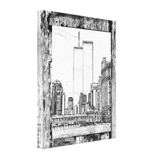 Twin Towers Stretched Canvas Print