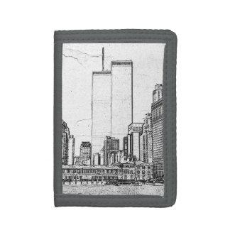 Twin Towers Tri-fold Wallets