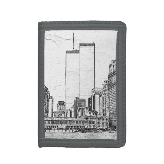 Twin Towers Trifold Wallet