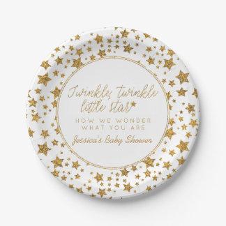 Twink, Twinkle Little Star Baby Shower Paper Plate