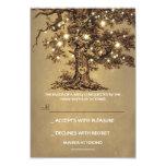 Twinkle Lights Tree Rustic Wedding RSVP card Custom Invites
