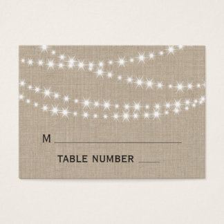 Twinkle Lights Typography Place Card