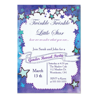 Twinkle Little Star Gender Reveal Card