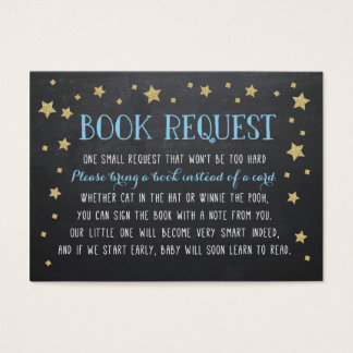 Twinkle Star Book Request, Nursery Rhyme Business Card