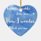 Twinkle Twinkle Little Star Christmas Ornament