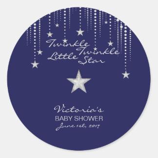 Twinkle Twinkle Little Star Stickers - Blue,Silver