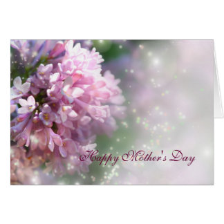 Twinkling Pink Lilacs Mother's Day Card