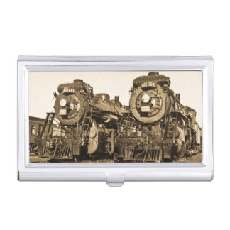 """Twins"" Canadian National Railroad Locomotives Business Card Holders"