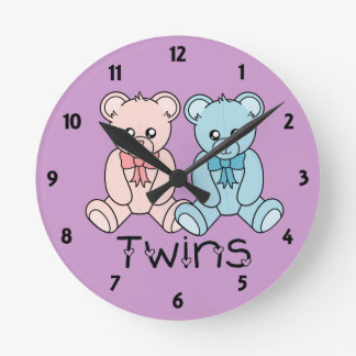 Twins Childrens Learning Wall Clock