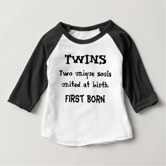 Twins - Two Unique Souls Baby T-Shirt