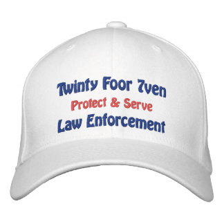 Twinty Foor 7ven/Law Enforcement Embroidered Hat