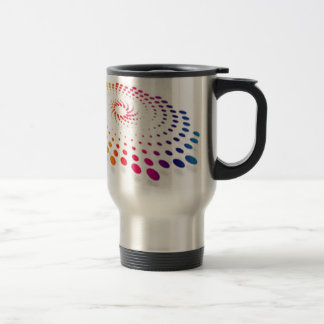 Twirling abstract dot vector travel mug