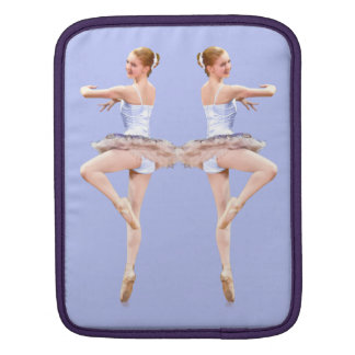 Twirling Ballerina in Purple and White iPad Sleeve