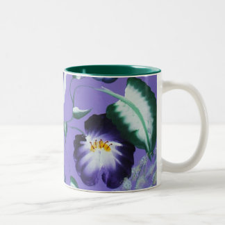 """Twirling Outdoors"" Floral Folk Art, Fine Art Mug"