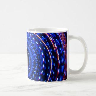 Twirling spiral light spin cycle coffee mug