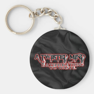TWISTED MIND IS TERRIBLE TO WASTE BASIC ROUND BUTTON KEY RING