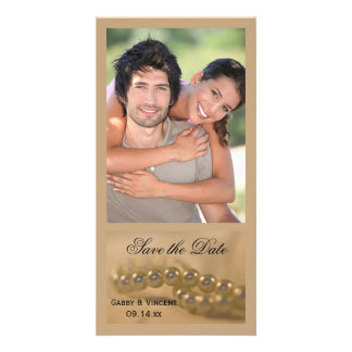 Twisted Pearls Wedding Save the Date Customised Photo Card