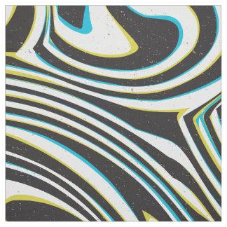 "Twisted zebra stripes pattern ""3D glass effect"" Fabric"