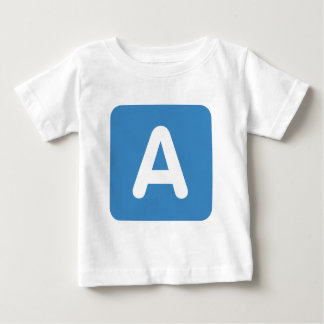 Twitter Emoji - Letter A Baby T-Shirt