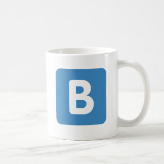 Twitter emoji - Letter B Coffee Mug