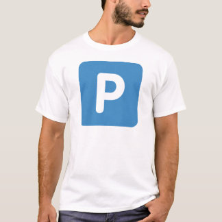 Twitter emoji Letter P T-Shirt