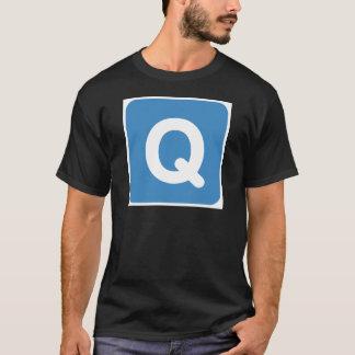 Twitter emoji letter Q T-Shirt