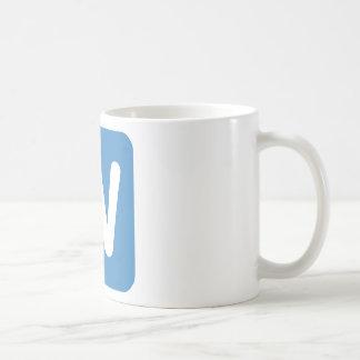 Twitter Emoji - Letter W Coffee Mug
