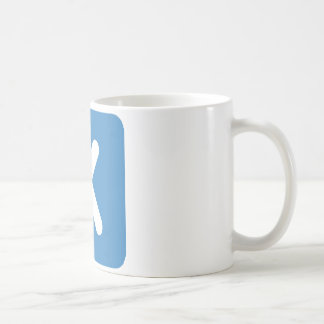 Twitter emoji - Letter X Coffee Mug