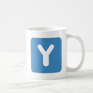 Twitter Emoji Letter Y Coffee Mug