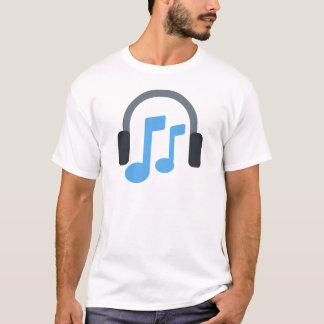 Twitter emoji - Music, Headphone T-Shirt